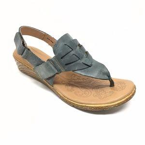 Women's Born D60504 Teal Sandals Shoes Size 8M